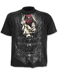 Spiral Waisted T-Shirt schwarz
