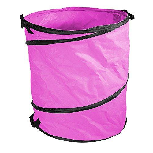 Amazing Rechen Pink 40gal. Garden Pop Up Tasche bleibt Wide Open (öffnen Clam)