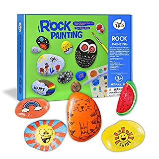 Dreamingbox Arts and Crafts for Girls Age 5-10, Art Supplies for Kids 9-10 Year Old Toys for Girls Age 8-10 Creative for Kids Rock Painting Kit Christmas Xmas Gifts for Girls Kids Stocking Fillers