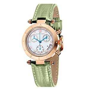 Klaus Kobec KK-10013-09 Ladies Couture 33mm Green Lizard Pattern Leather Strap Watch