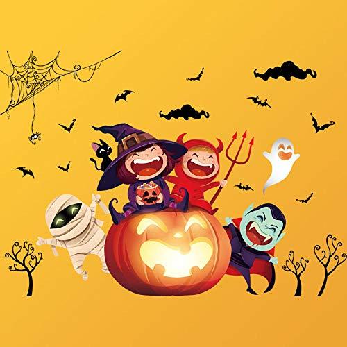 Halloween Einzelhandel - LYINHGL Happy Halloween Wandaufkleber Fenster Kürbis