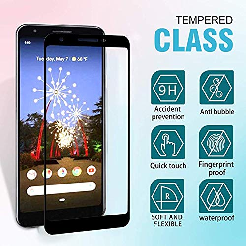 Google Pixel 3A 5D Tempered Glass Full Coverage Kavacha Tempered Glass for Google Pixel 3A (Black)