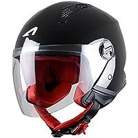 Astone Helmets Mini Jet Army Casco Jet, color Negro (Noir Metallic), talla