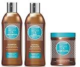 Bio Arganöl Haarpflegeset : Haarspülung & Shampoo & Haarmaske – mit natürlichen Inhaltsstoffen – frei von SLS, Parabenen und Farbstoffen