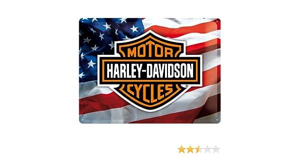 Targa in Metallo Nostalgic-Art 23126 30 x 40 cm da Appendere Soggetto: Harley-Davidson