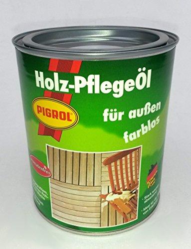 Pigrol Holzpflegeöl 0,75L farblos Hartöl Gartenmöbelöl Terrassenöl Holzöl - Tisch Mahagoni-holz Gartenmöbel