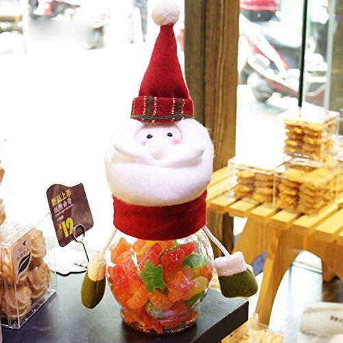 Bluelover Weihnachten 2018 Candy Jar Santa Claus Schneemann Elk Kids Weihnachts-Desktop-Ornamente - Weihnachtsmann