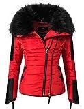 Navahoo Damen Jacke Winterjacke Steppjacke Yuki2 (vegan hergestellt) Red Gr. XS