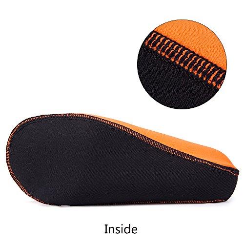 JACKSHIBO Herren Barfuß Wasserschuhe Surfschuhe Damen Strandschuhe Schwimmschuhe Unisex Orange