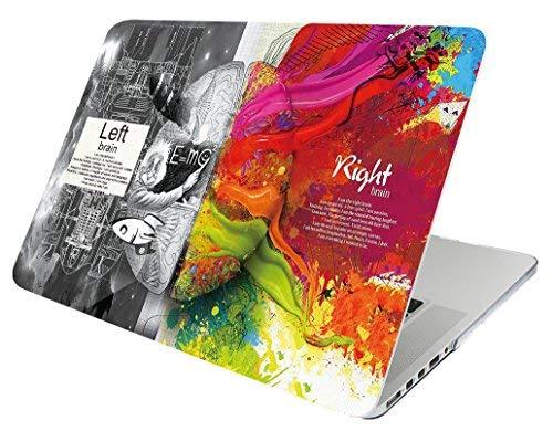 October Elf New Macbook Pro 15 Zoll mit Touch Bar und Touch ID Fall (2017 & 2016 Release) Folio Case 2 in 1 mit Hülse für MacBook Pro 15 '' Modell: A1707 (Linkes rechtes Gehirn D) - Macbook 15 Pro Holz-tastatur