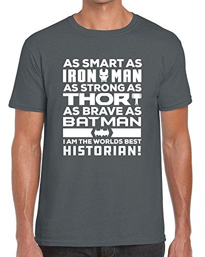 Funky NE Ltd I Am The World's Best Historian - Superhero - Tshirt - 100% Cotton - Small To XXL - 15 Colours - Great Gift Idea by