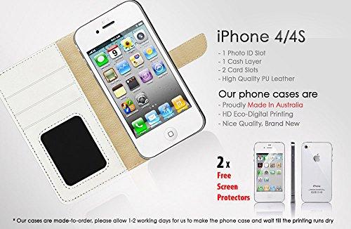iPhone 44S Flip Wallet Coque et protection d'écran Bundle. A20276Jeu vidéo