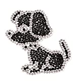 SM SunniMix Strassstein Motiv Strass Tier, Bügel Iron on Aufnäher Patches Bügelbilder Sticker Applikation Aufbügler Strass - Hund
