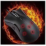 WinkeyFR Réchauffeur de Mains Souris d'ordinateur, Hiver Chauffés Filaires Jeux de PC USB Souris de Jeu Silencieuse Souris,Heated Silent Mice Mouse pour Utilisateur Moyen