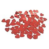 Confetti Decoración Del Partido De La Boda Del Corazón De La Chispa Dispersa Rocía 14mm Rojo