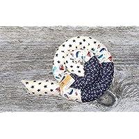 Handmade ♥ Babynestchen Patchwork ♥ Bettschlange Wale Sterne Anker