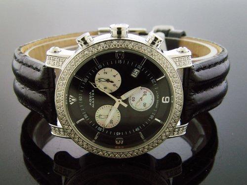 Aqua Master am-37blk–Montre, Bracelet en Cuir Couleur Noir