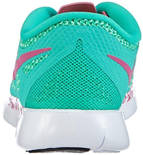 Nike Free 5.0 Print Mädchen Laufschuhe Grün (Menta/Hot Pink-Green Glow-Black)