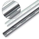 WANDSCHIENEN für REGALTRÄGER | 2 x SCHIENEN | 1-reihig | 1500 mm | Weiss | Regalhalter Wandregal Regalbodenträger Regal Regalwinkel