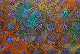 Handgefärbte Batik aus Indonesien / 'Flowers' COL A / 100%