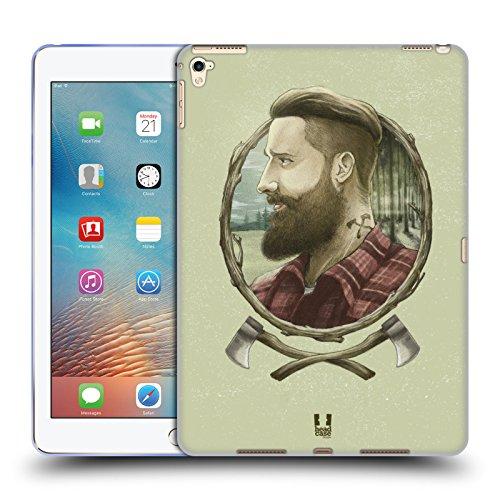 Head Case Designs Holzhacker Männliche Hipsters Soft Gel Hülle für iPad Pro 9.7 (2016)