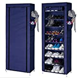 #7: PAffy Shoe 9 Tier Cloth Cabinet, Shoe Rack Organiser, Color – Blue (20 Year Warranty *MADE IN INDIA)