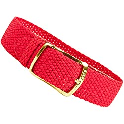 Kristall Replacement Band Perlon Strap Textile Strap red, braided, waterproof 25629G, width:12mm