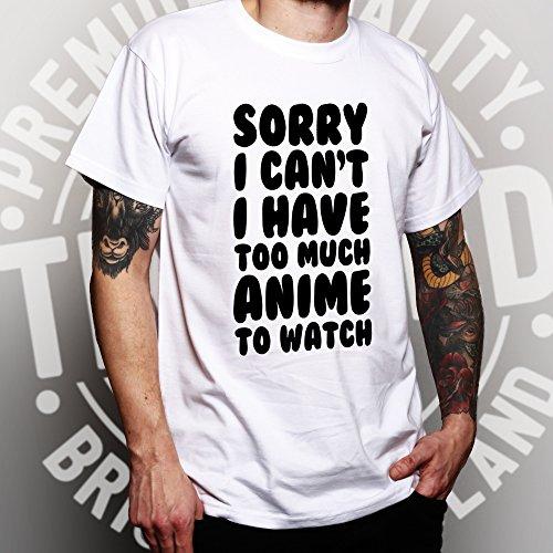 Leider kann ich nicht, ich habe zu vielen Anime lustiger Slogan coole Uhr Herren T-Shirt Bottle Green