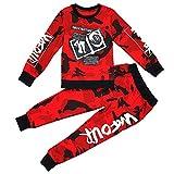 Vividda Junge Camouflage Langarm Sweatshirt Tops + Camo Hosen Jogginganzug Trainingsanzug 5-6 Jahre