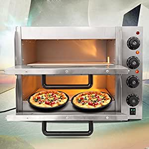 ridgeyard 3kw pizzaofen elektrisch backofen brotofen flammkuchen pizzamaker mit 2. Black Bedroom Furniture Sets. Home Design Ideas