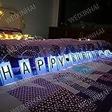 LED Letter Light Box String (118in 20led) Bagliore Nel Buio Fai Da Te Lettera Combinazione Segno, Buon Compleanno Banner Festa di Compleanno Decorazione Lanterna Battery Box Luci Stringa