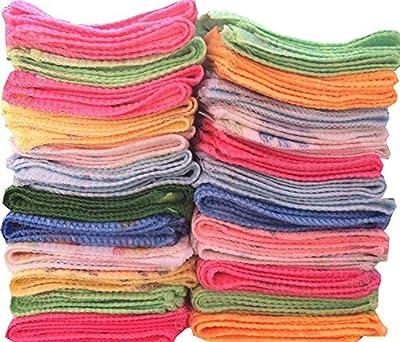 100% Cotton Handkerchief for Women_Flower design_ Multicolor (Pack of 20)