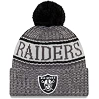 check out cd275 3dc02 New Era NFL Oakland Raiders 2018 Sideline Graphite Sport Knit