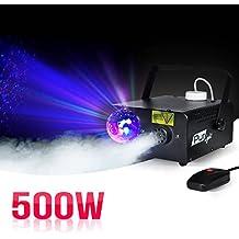Máquina de humo 500W 2-en-1efecto luz Astro + estribo + mando a distancia–PUR Light Dakota