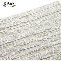LEISU PE de Espuma de 3D Wallpaper DIY Pegatina de pared Patrón de Ladrillo Papel Pintado