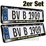 Borussia Dortmund Nummernschildträger / Kennzeichenverstärker / Kennzeichenrahmen / Kennzeichenhalter 3-D-Optik - 2er Set BVB 09