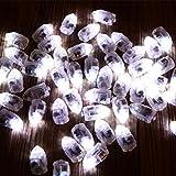 Kuulee 10 Mini LED Glühbirne wasserdichtes Blinkendes Licht für Ballon und Laterne, Hochzeitsfest Weihnachten Tischdekoration Tauchgang, Weiß Rot Gelb Grün Blau