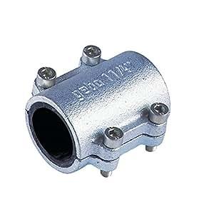 Gebo Original - Collier de reparation Fonte malleable noir diametre : 40x49 Tube : diametre : 48.3 mm Lg : 100 mm