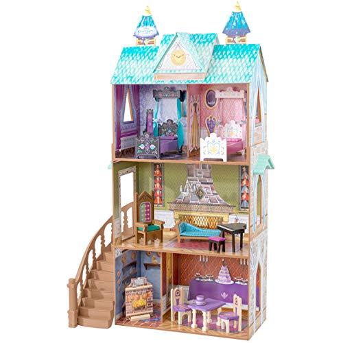KidKraft 65945 Disney® Frozen - Die Eiskönigin Elsa Arendelle Palace Puppenhaus Schloss aus Holz mit Zubehör für 30cm große Puppen mit 12 Accessoires und 3 (Die Frozen Disney)