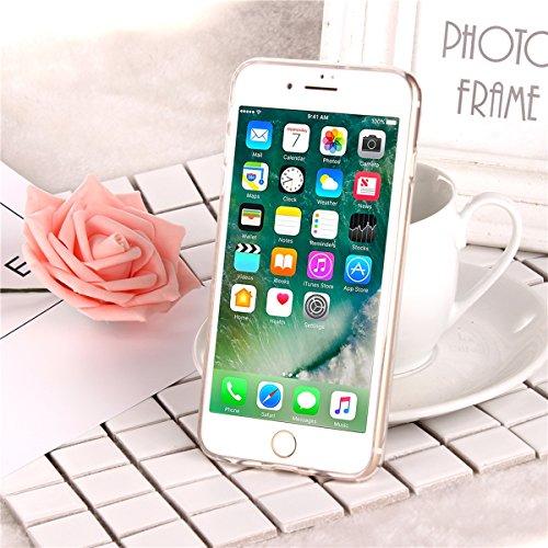 Tpu Étui pour iPhone 6 Plus , Etsue Coque Joli Luxe Bling Glitter Éclat Doux Protecteur Coque pour iPhone 6S Plus,Gel Cadre Transparent Clear de Cristal Remplissage Housse étui pour iPhone 6 Plus/6S P doré
