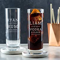 Personalised Highball Glass/Engraved Highball/Alcohol Gifts For Men/Personalised 21st Birthday Gifts For Him/Gin Rum Whiskey Vodka Gifts For Men