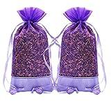 Lavendel Natürliche Frische für Schrank, Schublade, Auto, Raum – Motten und Insekten abweisend – 2 Päckchen mit 30 Gramm behaglichen kleinen Beuteln gefüllt mit getrockneten französischen Lavendel Knospen