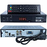 HD Sat Receiver Echosat 20500 FTA Digitaler Satelliten-Receiver (HDTV, DVB-S /DVB-S2, HDMI,AV, 2x USB 2.0, Full HD 1080p,Digital Audio Out) [vorprogrammiert für Astra Hotbird Türksat ] inkl. HDMI Kabel – schwarz