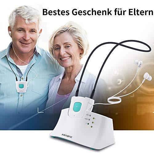Artiste E1 Kopfhörer für Fernseher, 2,4 GHz Drahtlose TV Kopfhörer für Seniors, TV Kopfhörer mit Sender Set Optisch, AUX, RCA, Plug & Play, No Delay, 100ft(30m) Range