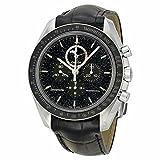 Omega Omega Speedmaster Chronograph Black Dial Black Leather Mens Watch 31133443201001