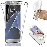 SAVFY® Funda 360 Doble Delantera + Trasera Gel Transparente Silicona Gel Integral para Samsung Galaxy s7 edge