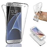 SAVFY® Custodia full body Samsung Galaxy S7 Edge, Protezione a 360°, Morbido TPU Case Cover Ultra Sottile, Resistente Ai Graffi immagine