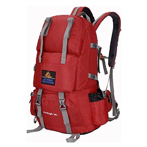 Zaini da escursionismo, Traspirante Spalla Zaino Viaggio Trekking Alpinismo Zaino Unisex Zainetto All'Aperto red 3