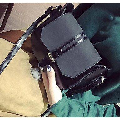 SUNNY KEY-Borsa a tracolla @ Donna Borsa a tracolla PU (Poliuretano) Per tutte le stagioni Casual Cerniera Nero Rosso Marrone , black black