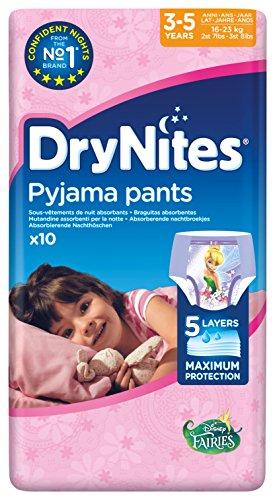 Huggies DryNites Girl hochabsorbierende Pyjamahosen Unterhosen für Mädchen 3-5 Jahre 3er Pack (3 x 10 Stück)